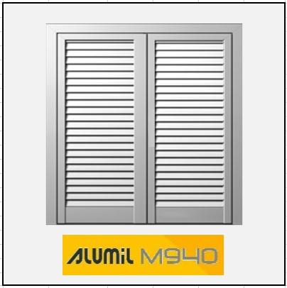 Δίφυλλο Ανοιγόμενο Πατζούρι Alumil 940