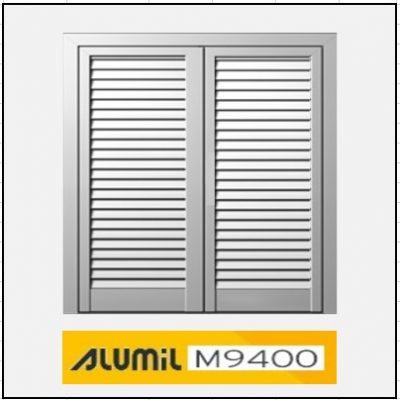 Δίφυλλο Ανοιγόμενο Πατζούρι Alumil 9400
