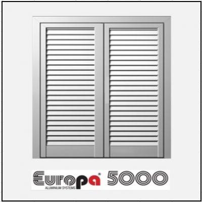 Δίφυλλο Ανοιγόμενο Πατζούρι Europa 5000