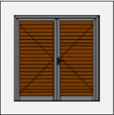 Δίφυλλο ανοιγόμενο πατζούρι pvc