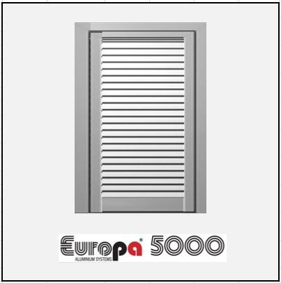 Μονόφυλλο Ανοιγόμενο Πατζούρι Europa 5000