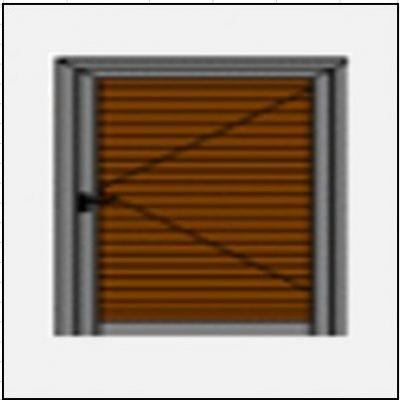 Μονόφυλλο ανοιγόμενο πατζούρι pvc