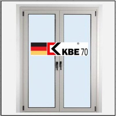 Συνθετικά κουφώματα PVC Δίφυλλο Ανοιγόμενο Τζάμι KBE 70