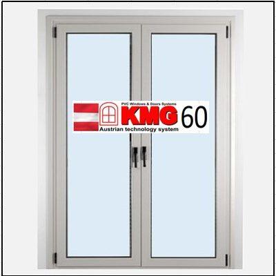 Συνθετικά κουφώματα PVC Δίφυλλο Ανοιγόμενο Τζάμι KMG 60