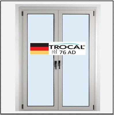 Συνθετικά κουφώματα PVC Δίφυλλο Ανοιγόμενο Τζάμι TROCAL 76 AD τριπλό γυαλί