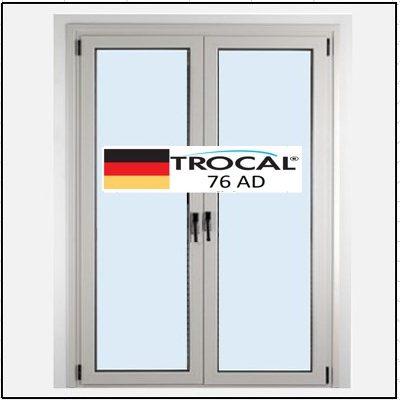 Συνθετικά κουφώματα PVC Δίφυλλο Ανοιγόμενο Τζάμι TROCAL 76 AD