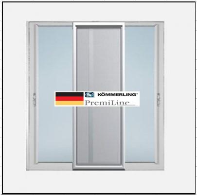 Συνθετικά κουφώματα PVC Δίφυλλο συρόμενο επάλληλο σήτα KÖMMERLING PremiLine