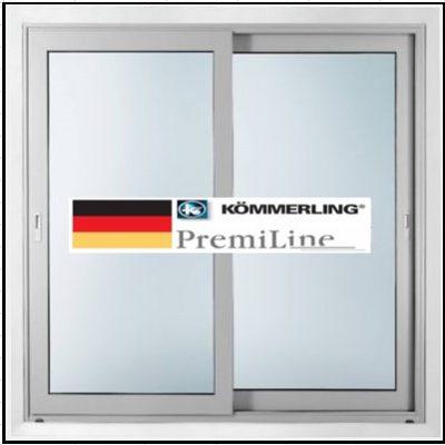 Συνθετικά κουφώματα PVC Δίφυλλο συρόμενο επάλληλο KÖMMERLING PremiLine