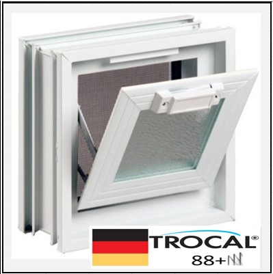 Συνθετικά κουφώματα PVC Κουμπάσο Τζάμι TROCAL 88+ τριπλό γυαλί