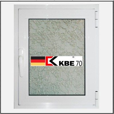 Συνθετικά κουφώματα PVC Μονόφυλλο Ανοιγόμενο Τζάμι KBE 70