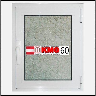 Συνθετικά κουφώματα PVC Μονόφυλλο Ανοιγόμενο Τζάμι KMG 60