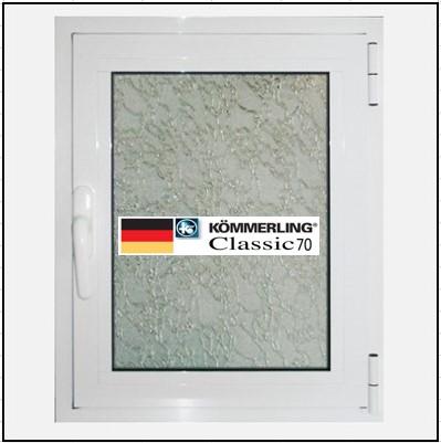 Συνθετικά κουφώματα PVC Μονόφυλλο Ανοιγόμενο Τζάμι KOEMMERLING Classic 70