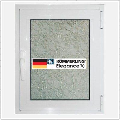 Συνθετικά κουφώματα PVC Μονόφυλλο Ανοιγόμενο Τζάμι KOEMMERLING Elegance 70