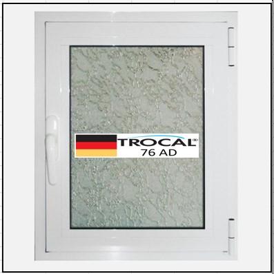Συνθετικά κουφώματα PVC Μονόφυλλο Ανοιγόμενο Τζάμι TROCAL 76 AD