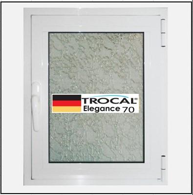 Συνθετικά κουφώματα PVC Μονόφυλλο Ανοιγόμενο Τζάμι TROCAL Elegance 70