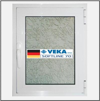 Συνθετικά κουφώματα PVC Μονόφυλλο Ανοιγόμενο Τζάμι Veka Softline 70