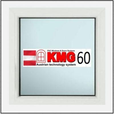 Συνθετικά κουφώματα PVC Σταθερό Τζάμι KMG 60