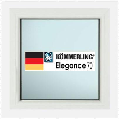 Συνθετικά κουφώματα PVC Σταθερό Τζάμι KOEMMERLING Elegance 70