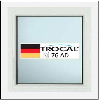 Συνθετικά κουφώματα PVC Σταθερό Τζάμι TROCAL 76 AD τριπλό γυαλί