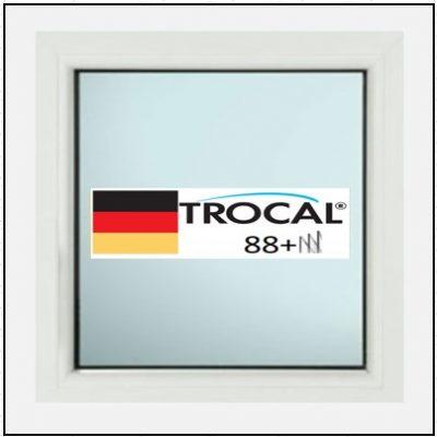 Συνθετικά κουφώματα PVC Σταθερό Τζάμι TROCAL 88+ τριπλό γυαλί