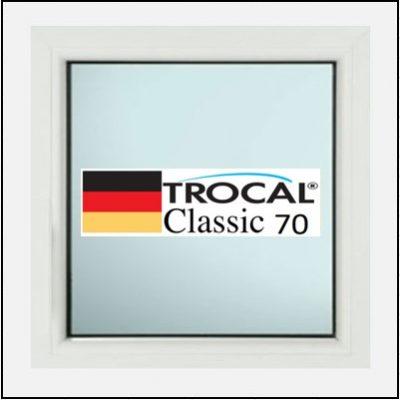 Συνθετικά κουφώματα PVC Σταθερό Τζάμι TROCAL Classic 70