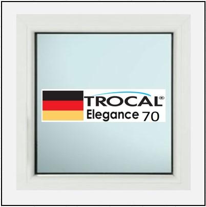Συνθετικά κουφώματα PVC Σταθερό Τζάμι TROCAL Elegance 70
