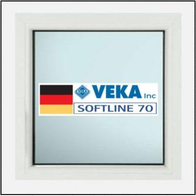 Συνθετικά κουφώματα PVC Σταθερό Τζάμι Veka Softline 70