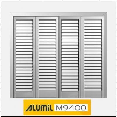 Τετράφυλλο Ανοιγόμενο Πατζούρι Alumil 9400