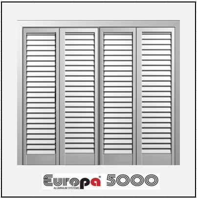 Τετράφυλλο Ανοιγόμενο Πατζούρι Europa 5000