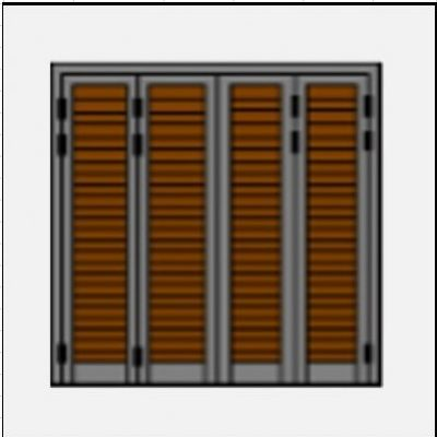 Τετράφυλλο ανοιγόμενο πατζούρι pvc