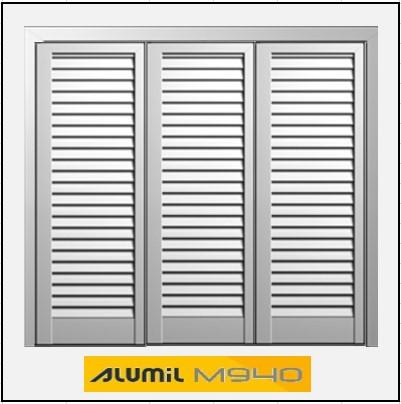 Τρίφυλλο Ανοιγόμενο Πατζούρι Alumil 940