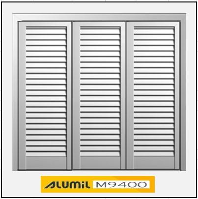 Τρίφυλλο Ανοιγόμενο Πατζούρι Alumil 9400