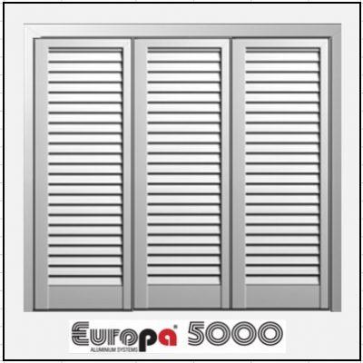 Τρίφυλλο Ανοιγόμενο Πατζούρι Europa 5000