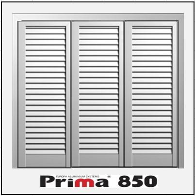 Τρίφυλλο Ανοιγόμενο Πατζούρι Prima 850
