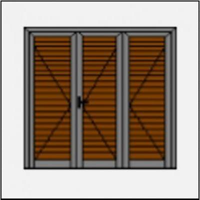 Τρίφυλλο ανοιγόμενο πατζούρι pvc