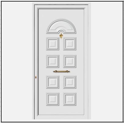 Πόρτα Εισόδου Αλουμινίου 52001