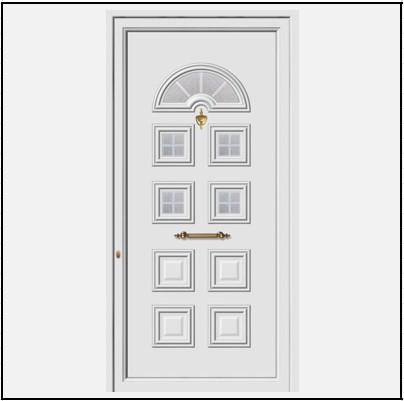 Πόρτα Εισόδου Αλουμινίου 52004