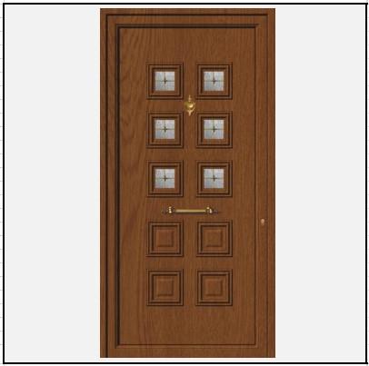 Πόρτα Εισόδου Αλουμινίου 52102
