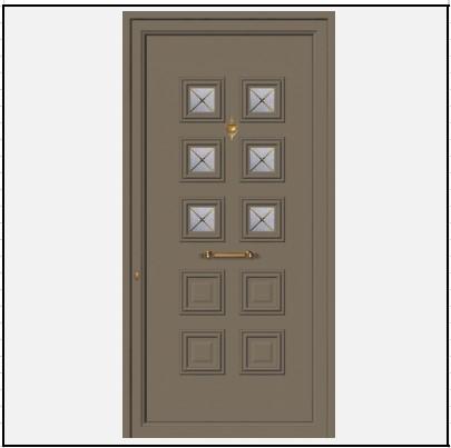 Πόρτα Εισόδου Αλουμινίου 52106