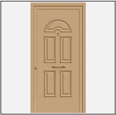 Πόρτα Εισόδου Αλουμινίου 52201
