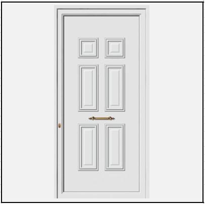 Πόρτα Εισόδου Αλουμινίου 52500