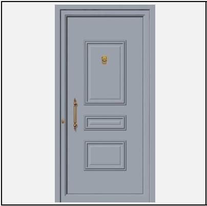 Πόρτα Εισόδου Αλουμινίου 53540