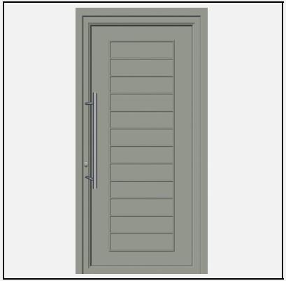 Πόρτα Εισόδου Αλουμινίου 53630