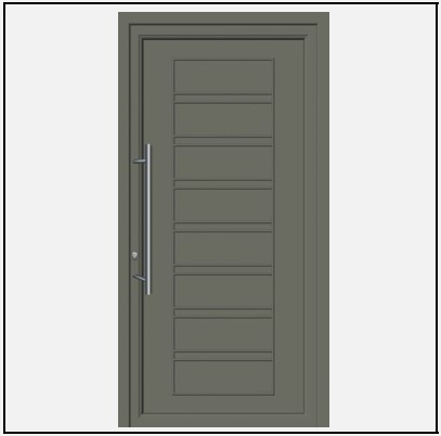 Πόρτα Εισόδου Αλουμινίου 53640