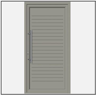 Πόρτα Εισόδου Αλουμινίου 53650