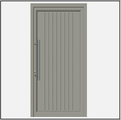 Πόρτα Εισόδου Αλουμινίου 53660