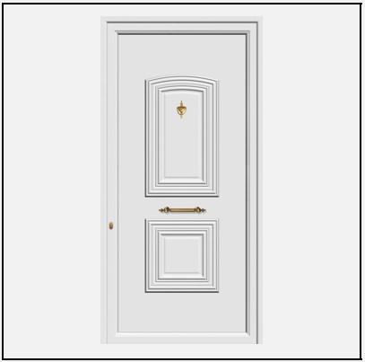 Πόρτα Εισόδου Αλουμινίου 53710
