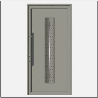Πόρτα Εισόδου Αλουμινίου 54280