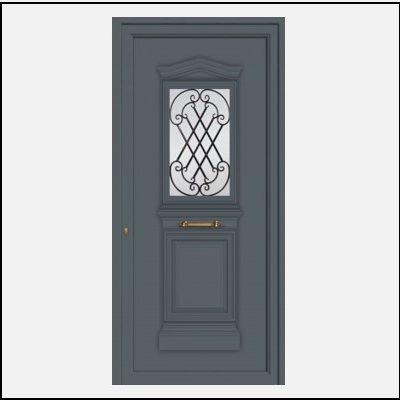 Πόρτα Εισόδου Αλουμινίου 55002