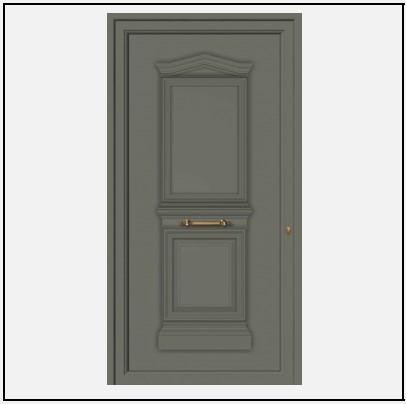 Πόρτα Εισόδου Αλουμινίου Παραδοσιακή 55001